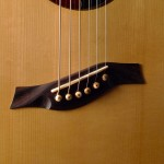 bridge of the handmade Dream Series Baritone Guitar