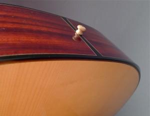bottom of the handmade Dream Series Baritone Guitar