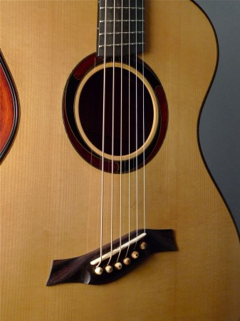 red adirondack spruce top fanned fret Mountain Song Guitars Dream Series Baritone Guitar