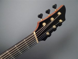 headstock for fanned fret Mountain Song Guitars Dream Series Baritone Guitar
