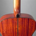 heel and paduak back of Mountain Song Guitars Dream Series Baritone Guitar