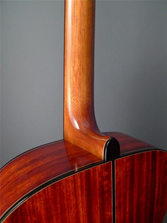 heel and heel cap on Mountain Song Guitars Dream Series Baritone Guitar