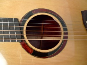sound hole rosette on Mountain Song Guitars Dream Series Baritone Guitar