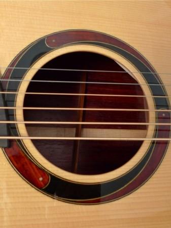 sound hole rosette on Mountain Song Guitars Dream Series Baritone Guitar