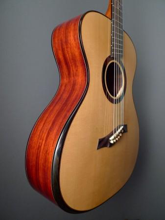 padauk sides and armrest bevel on Mountain Song Guitars Dream Series Baritone Guitar
