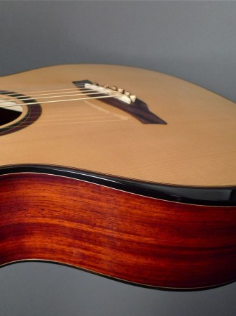 padauk sides with armrest bevel on Mountain Song Guitars Dream Series Baritone Guitar